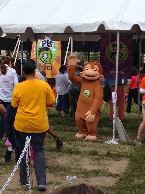 We also spotted that curious little monkey...Curious George!