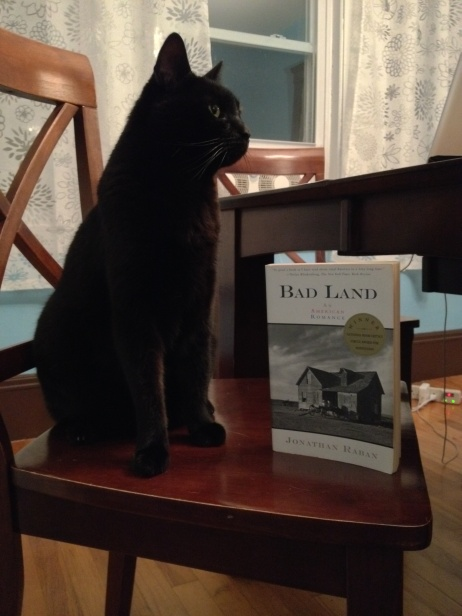 Ginger poses with Bad Land in the Dines Dining Room.