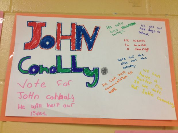 A few students supported John Connolly.