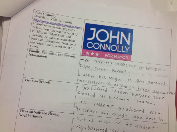 John Connolly Graphic Organizer