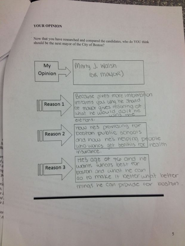 After researching and comparing the candidates, students formed their opinion about who they supported in the race.