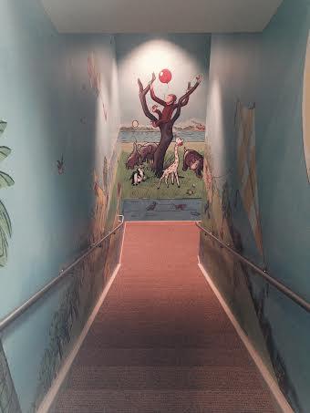 Gateway to Heaven?: The Entrance to the Curious George Room (photo: Paula Leoni)