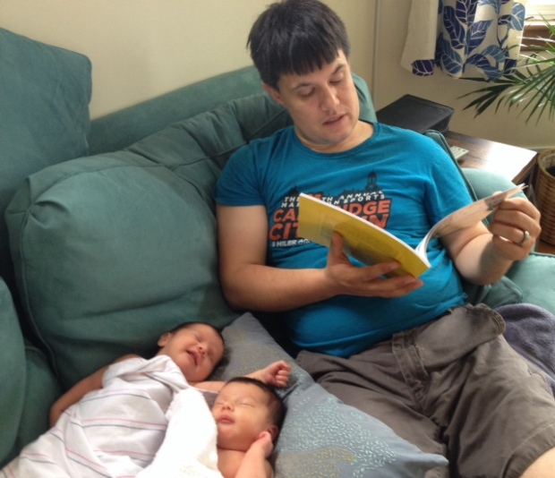 Daddy Daughter Time: Reading a picture book after mealtime