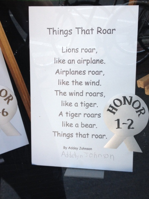 "A great conversation piece poem for young children: ""What else can you think of that roars?"""