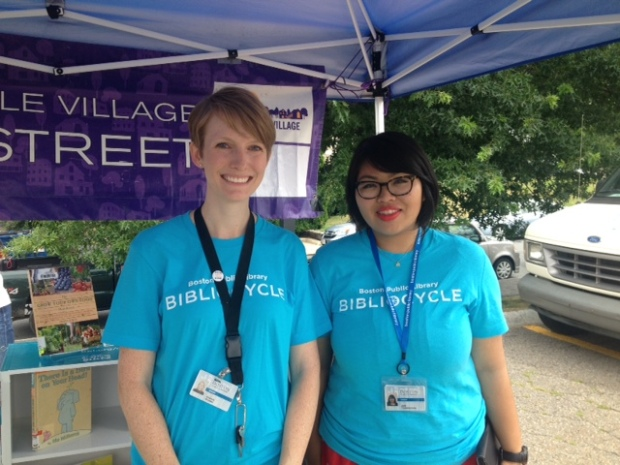 Best of all, two friendly librarians greeted all those who visited the Bibliocycle. You could even check out books!