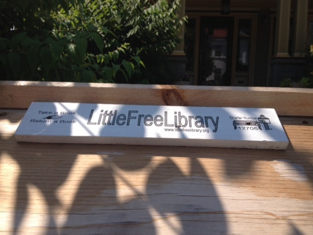 Informative Tag with Little Free Library URL