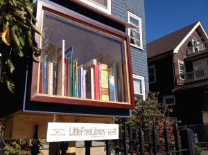 The Little Free Library on Cornell Street