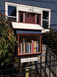 Completed and Official!  The Little Free Library on Cornell Street in Roslindale, MA.