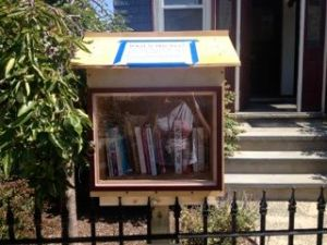Even before the Library was painted it was filled with the neighborhood's books!