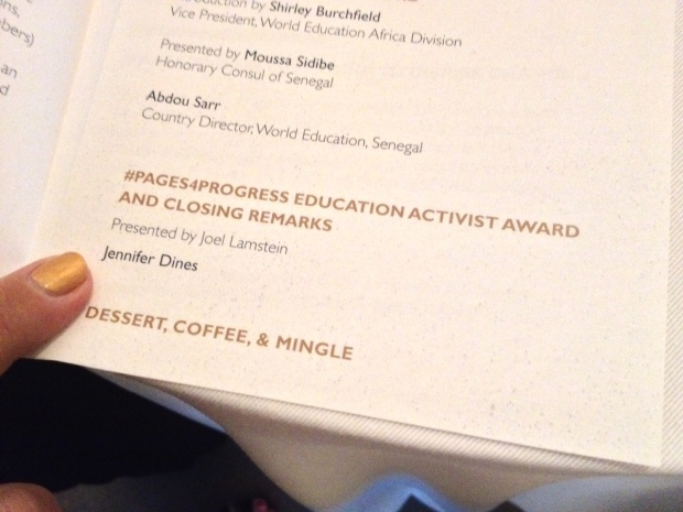 It was so exciting to see my name in the program.